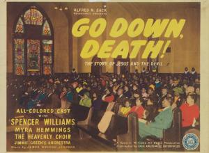 Lobby card for Go Down, Death!, Sack Amusement Enterprises, 1944.