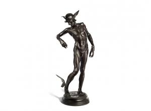 Perseus Arming by Sir Alfred Gilbert. Estimate £40,000-60,000. Image Courtesy of Bonhams.