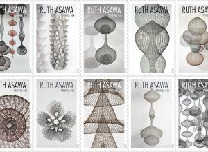 Ruth Asawa wire sculpture stamps