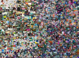 Collage of 5,000 images arranged to create a sort of gradient