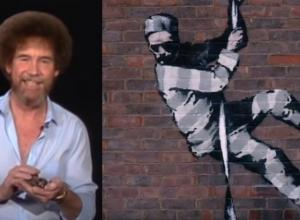 Banksy Instagram Still - Bob Ross YouTube Still