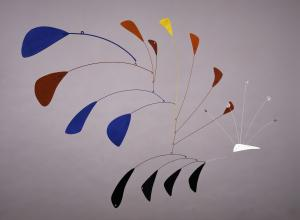 Alexander Calder metal mobile sculpture