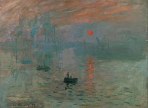 Claude Monet, Impression, Sunrise, 1872. Oil on canvas.