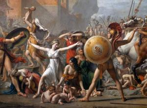 Jacques Louis David, Intervention of the Sabine Women, 1799.