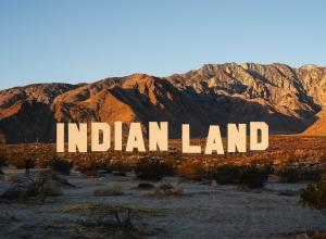 Indian Land spelled out massively in the style of the original Hollywood sign