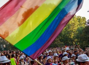 Detail of Gay Pride Madrid. Photo by Barcex of Flickr. CC BY-SA 2.0.