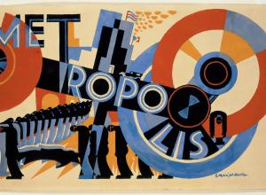 Drawing, Design for Metropolis by Fritz Lang, 1926; Designed by E. McKnight Kauffer