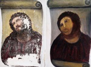 ecce homo original and botched restoration