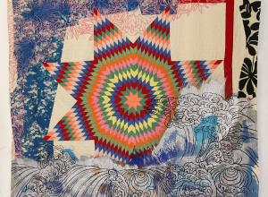 Sanford Biggers quilt painting