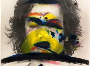 Arnulf Rainer, Face Farces: Farbstreifen, 1972.