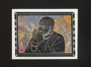 portrait of a man playing the harmonica