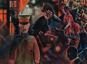 George Grosz, Gefährliche Straße, 1918.