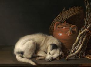 Gerrit Dou, Sleeping Dog, 1650.