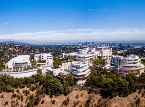 The Getty Center seen from above