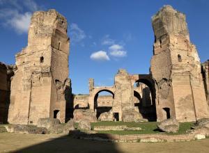 The baths of Caracalla.
