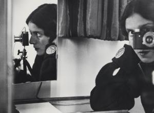 Ilse Bing (German, 1899–1998), Self-Portrait with Leica, 1931. Gelatin silver print. 10 1/2 x 12 in. (26.7 x 30.5 cm).