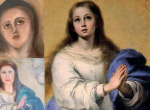 Immaculate conception baroque copy restoration botched