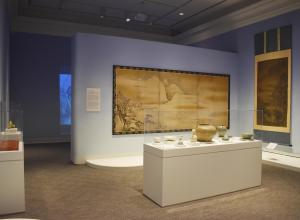 Installation view of Clouding- Shape and Sign in Asian Art.