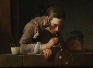 Jean-Baptiste-Siméon Chardin, Soap Bubbles, after 1739, Los Angeles County Museum of Art, gift of The Ahmanson Foundation,
