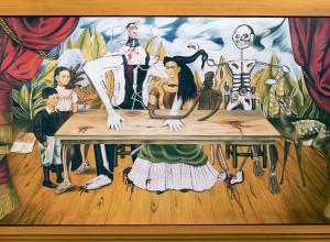 Frida Kahlo's wounded table painting