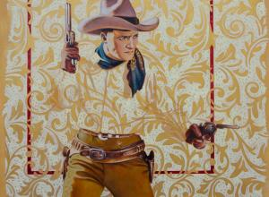 David Kammerzell, Two Gun Tom. Oil on panel.