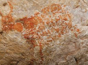 The oldest known figurative painting, a depiction of a bull, was discovered in the Lubang Jeriji Saléh cave dated as over 40,000 (perhaps as old as 52,000) years old.