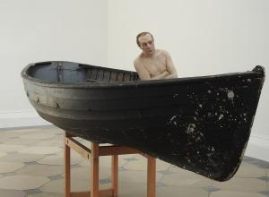 Man in a Boat, 2002. Mixed media, 75 centimeters high.