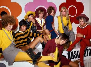 Mary Quant and models at the Quant Afoot footwear collection launch, 1967.