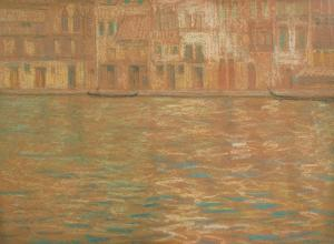 Mary Rogers Williams, Grand Canal, c. 1894. Pastel. Private collection.
