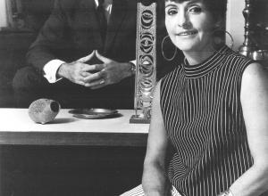 black and white photo of Sam and Mary Ann Scherr