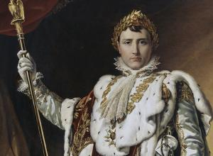 François Gérard, Detail of Portrait of Napoleon Bonaparte, 1805.
