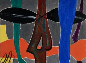 Man Ray, Non-Abstraction, 1947. Oil on panel. 36 1/4 x 27 1/2 inches (92.1 x 68.9 cm).