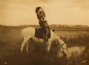 An Oasis in the Badlands - Sioux, 1905.