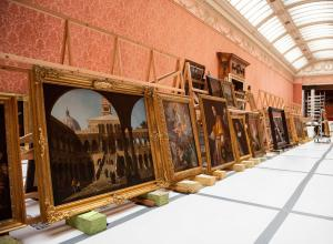 Old Master paintings removed from the Picture Gallery at Buckingham Palace for the first time in almost 45 years in preparation for landmark exhibition