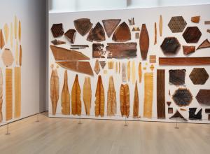 Installation view of Neri Oxman: Material Ecology, The Museum of Modern Art, New York.