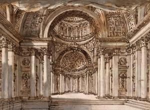 piranesi drawing of a roman colonnade
