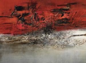 Zao Wou-Ki detail of painting modern art