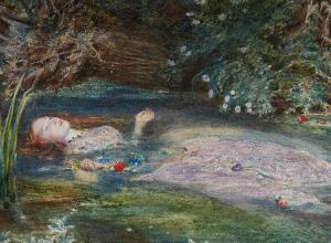 Elizabeth Siddal is the model in Ophelia by John Everett Millais, 1865-66.