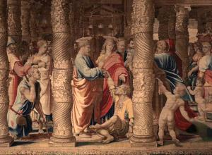 Raphael tapestry, The Healing of the Lame Man.