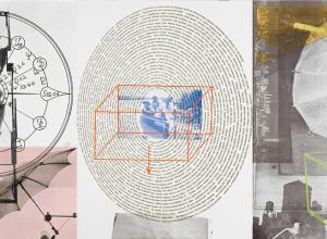 Robert Rauschenberg.Visual Autobiography, 1968. Photolithograph on paper, three parts.