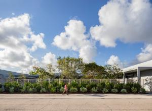 Exterior view of the Rubell Museum and courtyard garden.