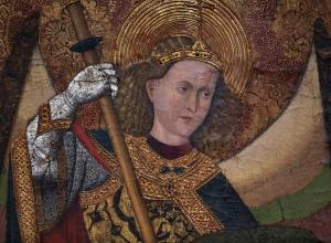 detail of St Michael Defeating the Devil by the Master of Belmonte