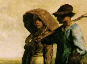 Detail of Millet painting
