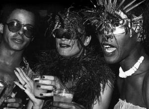 Bethann Hardison, Daniela Morera, and Stephen Burrows at Studio 54, 1978.