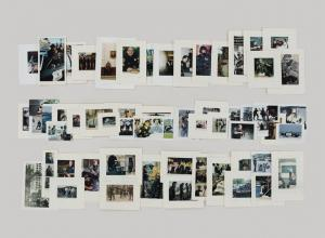 A collection of archival photos of police artistically laid out