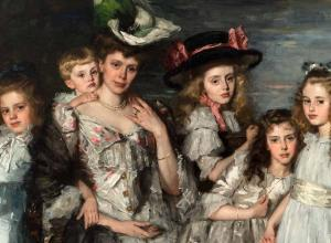Thérèse Schwartze, Portrait of Aleida Gijsberta van Ogtrop-Hanlo with her five children, 1906.