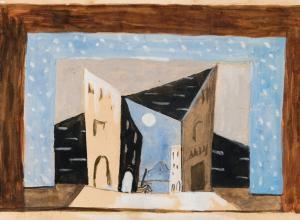 Pablo Picasso, Scene design for Pulcinella, ca. 1920