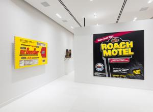 Tom Sachs, Installation view of Tom Sachs- Work roach motel and mr goodbar