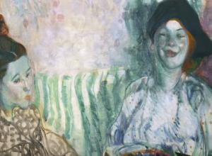 two women painting
