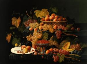 Severin Roesen, Still Life with Fruit (detail), ca. 1854–1855, Carnegie Museum of Art, Gift of Gulf Oil Corporation, a subsidiary of Chevron Corporation